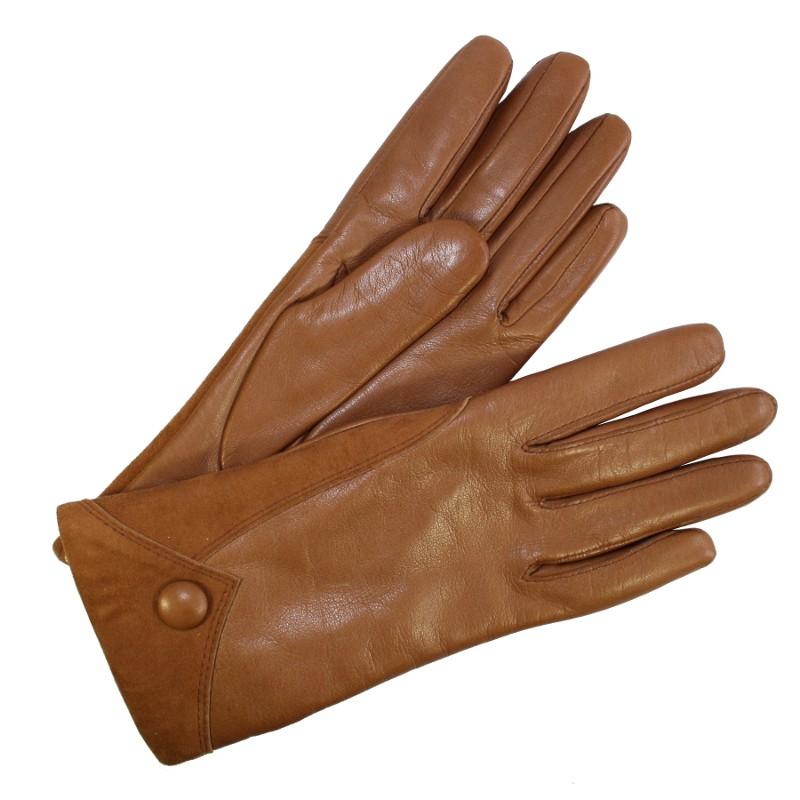 gants cuir femme glove story poignet effet retourn tous les gants. Black Bedroom Furniture Sets. Home Design Ideas