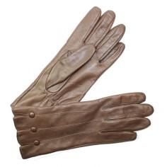 Gants Cuir Agneau Marron Doublé Soie Glove Story
