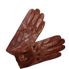 Gants Conduite Cuir Agneau Femme Brun Glove Story