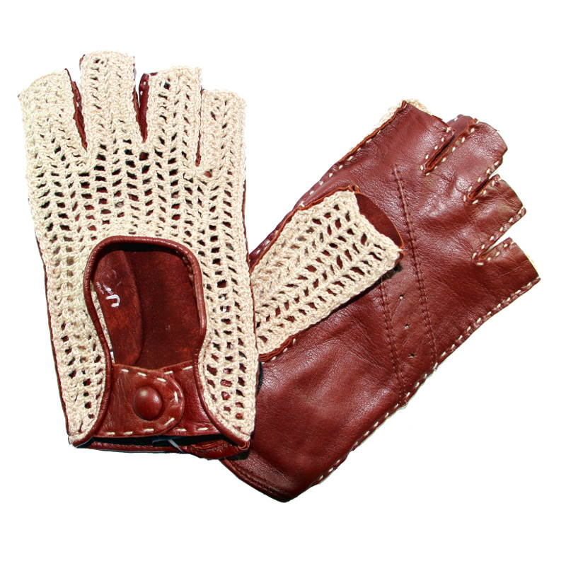 mitaines de conduite femme crochet tan glove story tous les gants. Black Bedroom Furniture Sets. Home Design Ideas