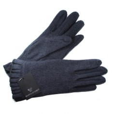 Gants Tricot Froncé Gris Femme Glove Story