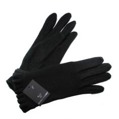 Gants Tricot Froncé Noir Femme Glove Story