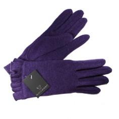 Gants Tricot Froncé Pourpre Femme Glove Story