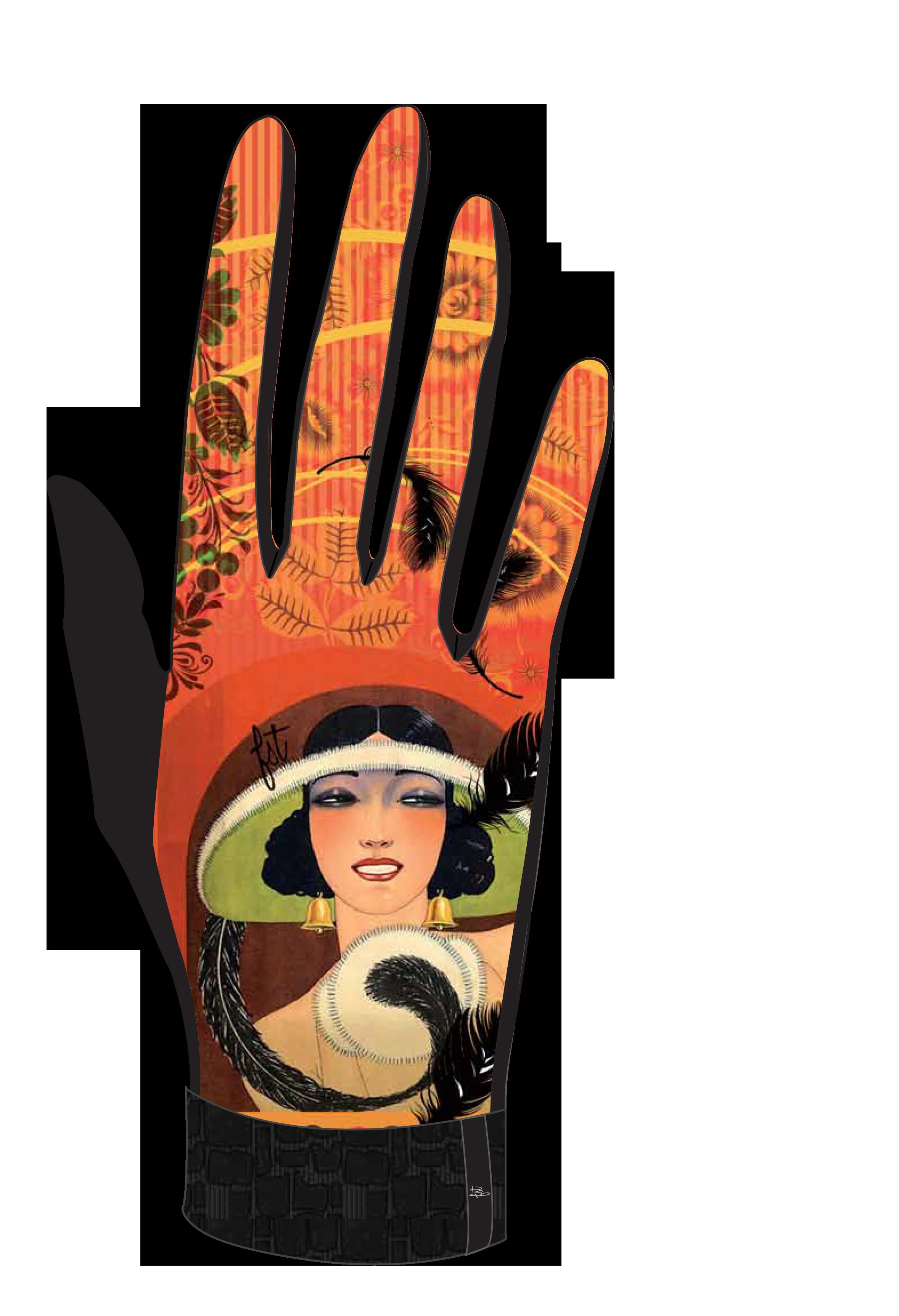 Gants femme imprimés PLUMES FST Handware