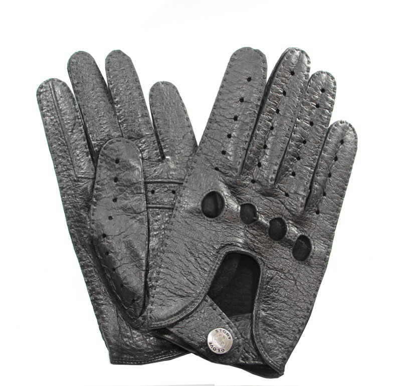 gants de conduite cuir p cari homme noir tous les gants. Black Bedroom Furniture Sets. Home Design Ideas